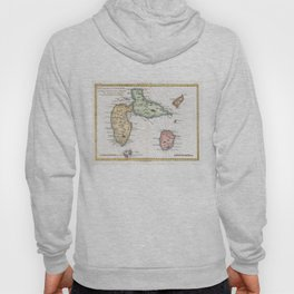Vintage Map of Guadeloupe (1780) Hoody