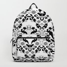 Abstract seamless black and grey ornament Backpack