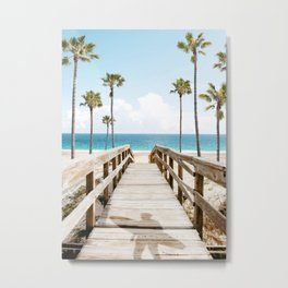 Surfer's Boardwalk Metal Print