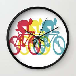 Bycycle Riders in Group Wall Clock
