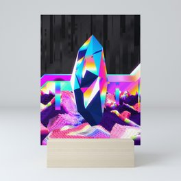 retro crystal Mini Art Print