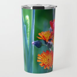 Fire Colors in the Greenery Travel Mug