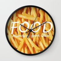 food Wall Clocks featuring Food by The Fifth Motion