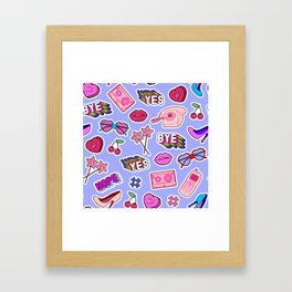 Girl things Framed Art Print