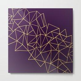 Ultra Purple Geo Metal Print