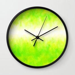 Neon Lemon Lime Abstract Wall Clock