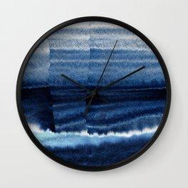 Blue Escape Watercolor Wall Clock