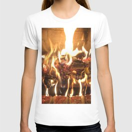 Keeping Warm by the Fire T-shirt