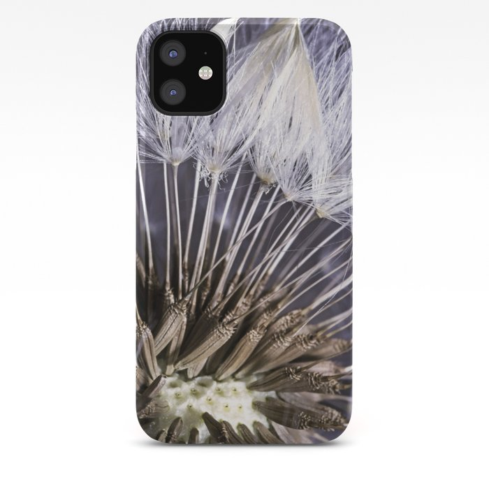 Extreme Macro Image Of A Dandelion Seed Head Iphone Case By Thommorris