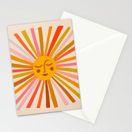 Sunshine – Retro Ochre Palette Stationery Cards