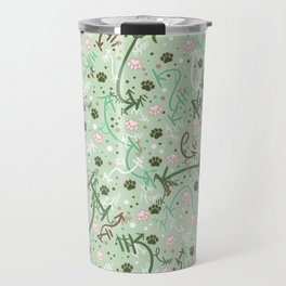 Mint Chip Paw Prints Travel Mug