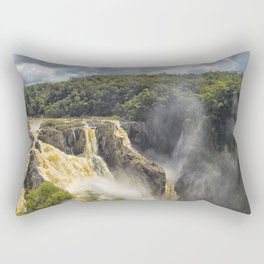 Beautiful wild waterfall Rectangular Pillow