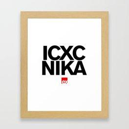 ic xc nika Framed Art Print