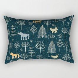 Magic Storybook Northwest Forest Pattern Rectangular Pillow