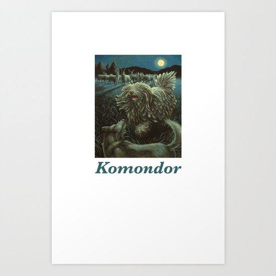 Komondor Art Print