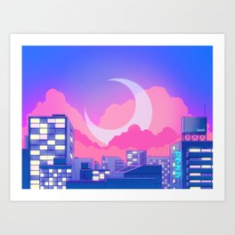Dreamy Moon Nights Art Print