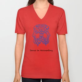 Janus in accounting Unisex V-Neck