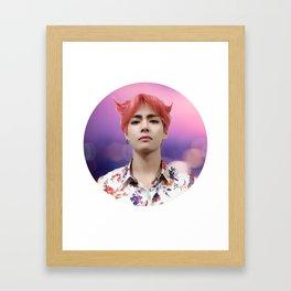kim taehyung don't cry Framed Art Print