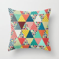 llama geo triangles Throw Pillow