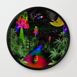 Roll, Roll, Roll a Joint Wall Clock