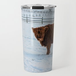 Are you looking at me, Scotish Highland Cow Travel Mug