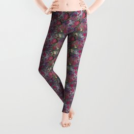 Project 52.1   Roses on Purple and Pink Watercolor Leggings