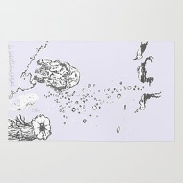 Two Tailed Duck and Jellyfish Lavender Rug
