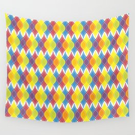 Rainbow Baubles Wall Tapestry
