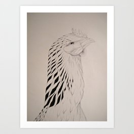 Chook Art Print