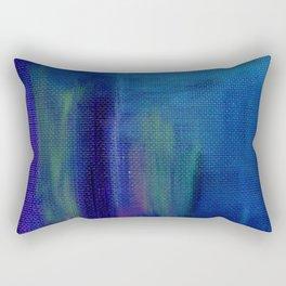 Brush Strokes Purple & Blue Rectangular Pillow