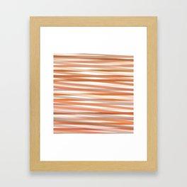 Fall Orange brown Neutral stripes Minimalist Framed Art Print
