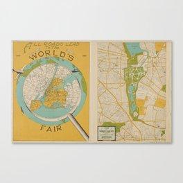 1939 World's Fair Map Canvas Print
