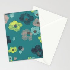 Watercolor Blooms - in Teal Stationery Cards