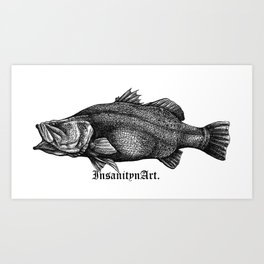 InsanitynArt's Special Barramundi Illustration Monster Hunter. Art Print