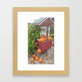 Pumpkins by the Well Framed Art Print