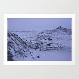 Greenland Ice Sheet Art Print