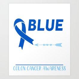 I Wear Blue For My Grandpa Art Print