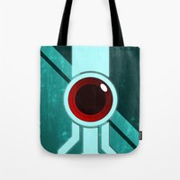 transistor Tote Bags featuring The Paintbrush by Grimaldo