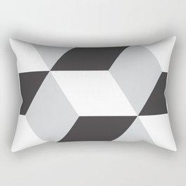Cubism Black and White Rectangular Pillow