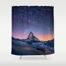 Mountain Reach the Galaxy Shower Curtain