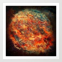 MULTI-SUN BURN Art Print