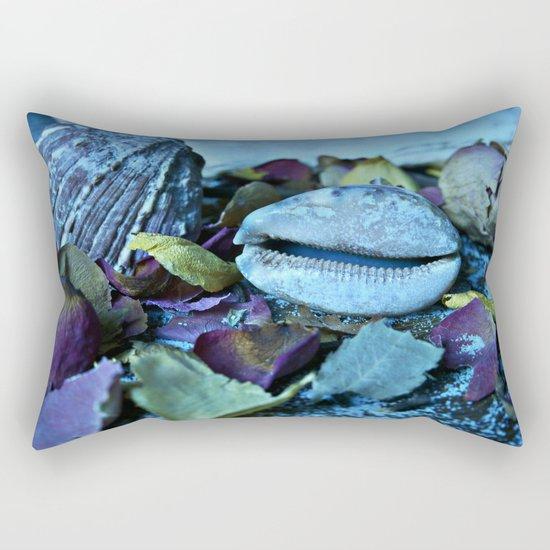 BLUE Maritime Symphony of Seashell Rectangular Pillow