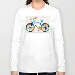 Colorful Bike Art - Free Spirit - By Sharon Cummings Long Sleeve T-shirt