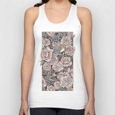 Flowers & Swallows Unisex Tank Top