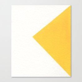 White / Yellow Canvas Print