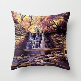 Goit Stock Waterfall Art Throw Pillow