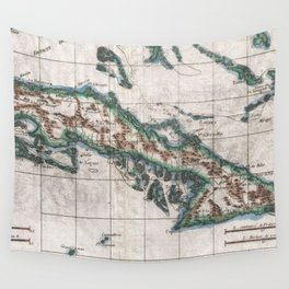 Vintage Map of Cuba (1780) Wall Tapestry