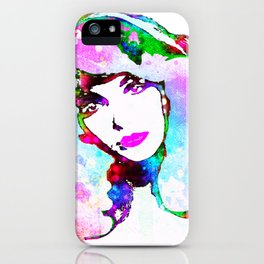 Painted Kate iPhone Case