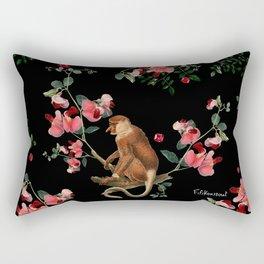 Monkey World: Nosy Rectangular Pillow