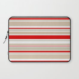 Nautical Red and White Stripe Laptop Sleeve